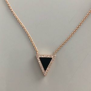 Michael Kors Rose Gold Triangle Necklace